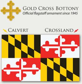 Maryland Flag - Calvert and Crossland